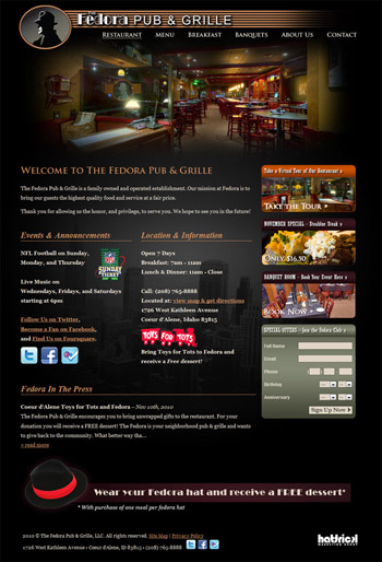 Fedora Pub & Grille Website